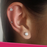 best milky mint earrings piercing green earring ear pinterest stud tragus cartilage helix crystal images on piercings